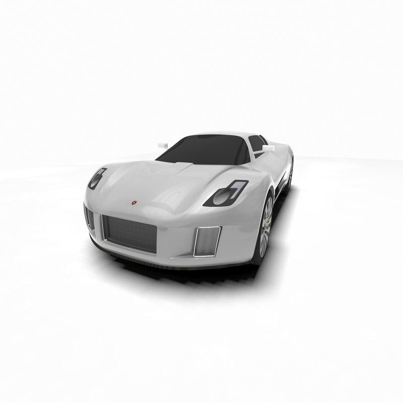 3d gumpert tornante concept car
