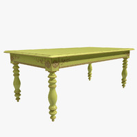 3d table moissonnier xix century