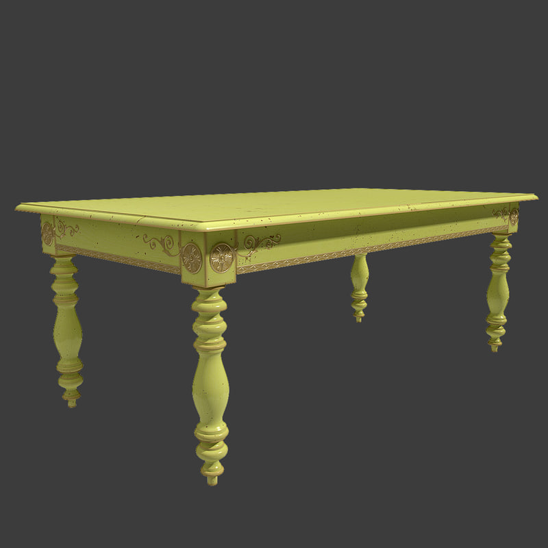 3d table moissonnier xix century