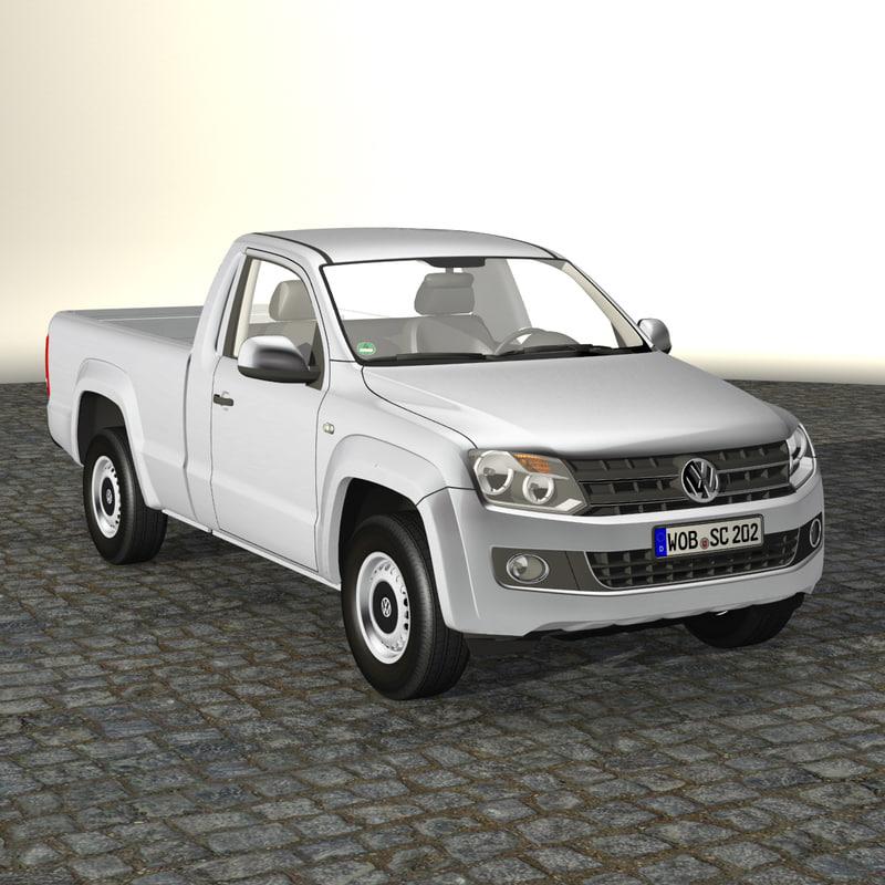 3d model amarok single cab