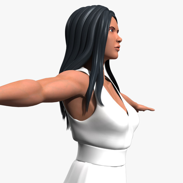 3d model of character female amazon