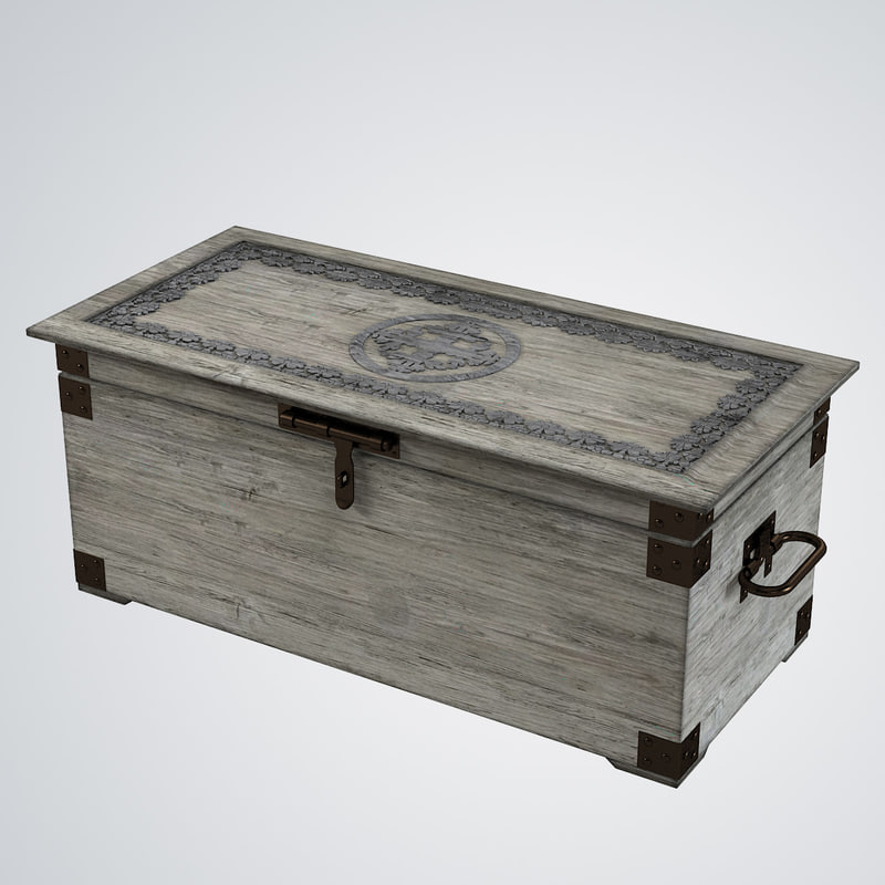 3d model vintage decorative trunk lehome
