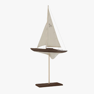 sailboat yacht decoration 3d 3ds