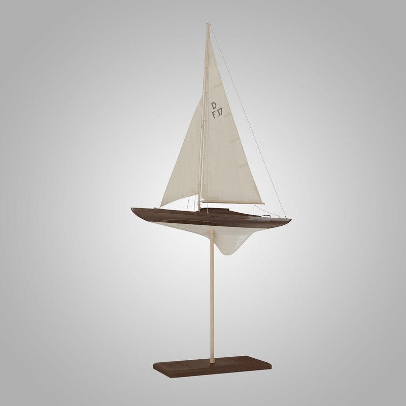 sailboat yacht decoration 3d 3ds