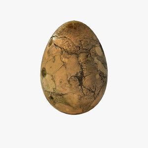 3d model fossilized egg