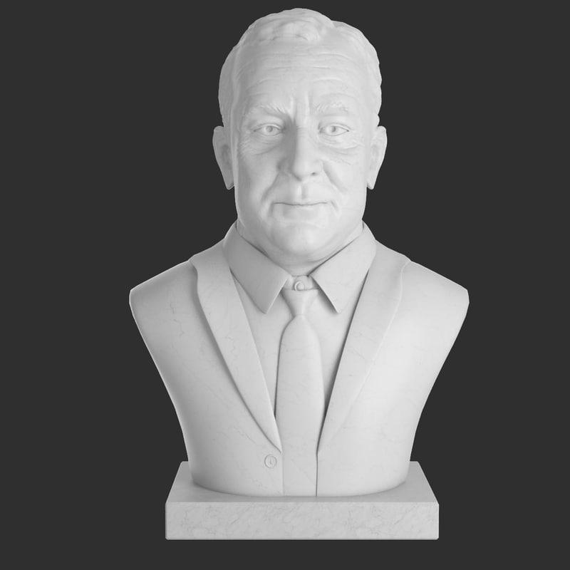 3d model franklin d roosevelt bust
