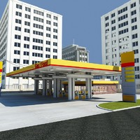 3dsmax petrol station