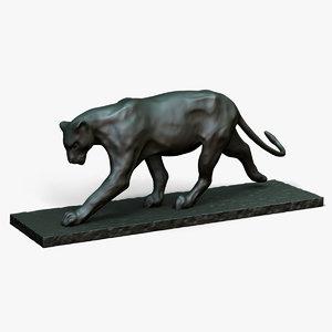 bronze sculpture bugatti 3d model