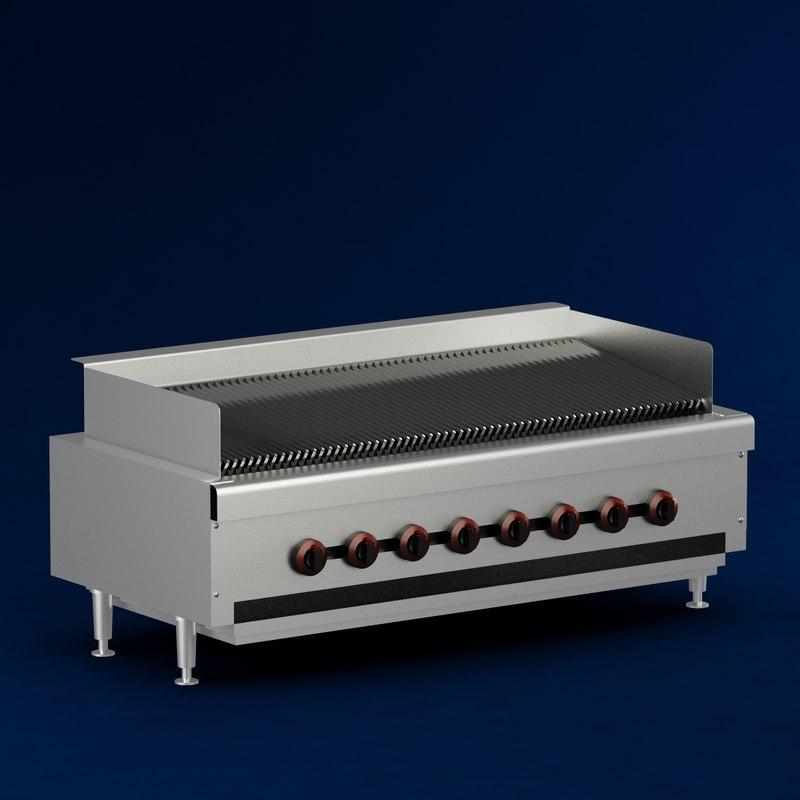 3d gas char broiler