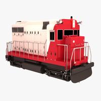 small train engine 3d model