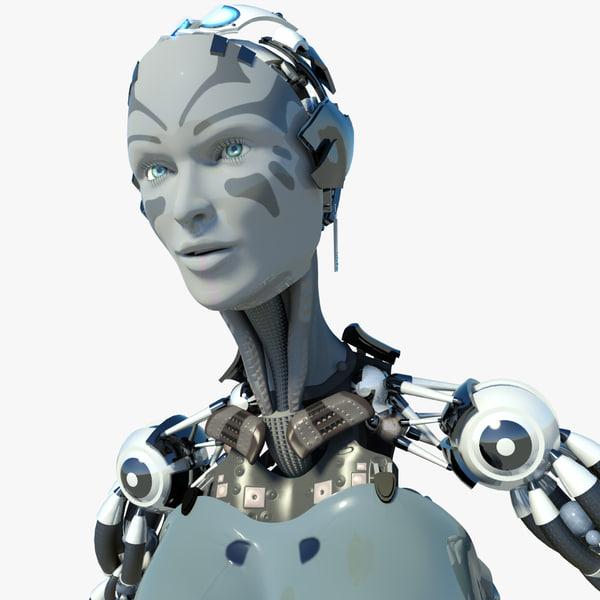 3d max robot droid cyber
