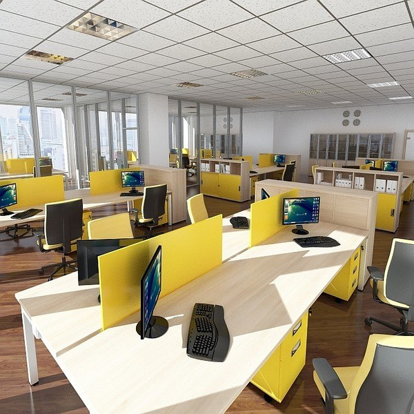 Office design 3d max Office design 3d