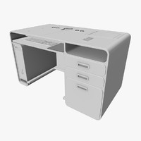 3d workstation office work desk
