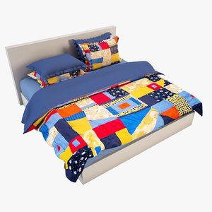 3d bedcloth bed model