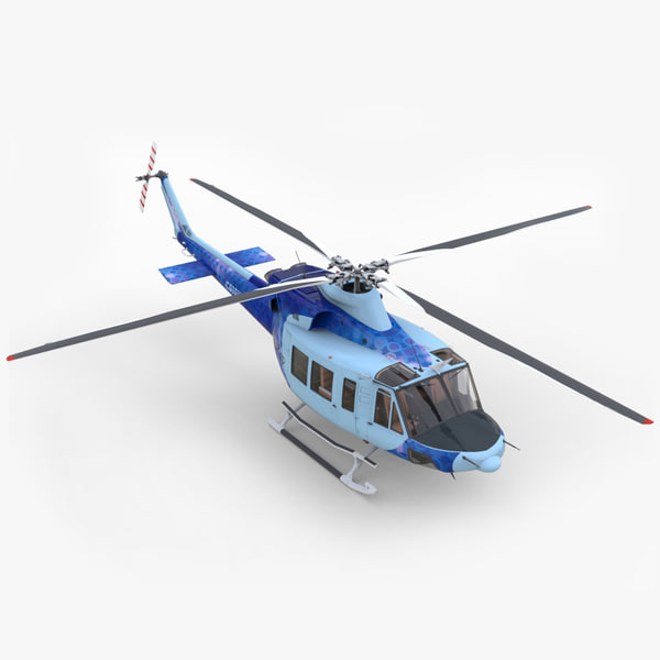 3ds max bell 412 ep helicopter