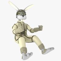 bunny pilot 3d model