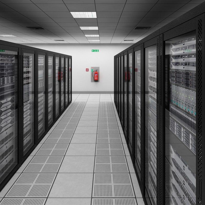 data server center dell 3d model