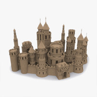 3d model castle medieval