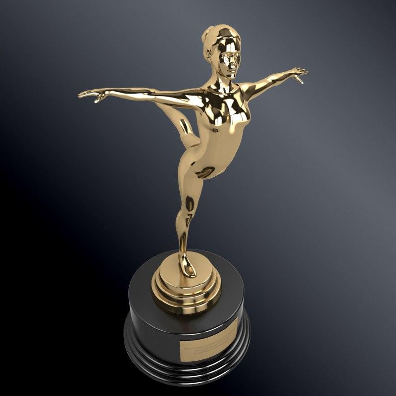 gymnastic trophy 3d model