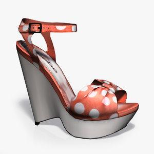 3d heel footwear modern