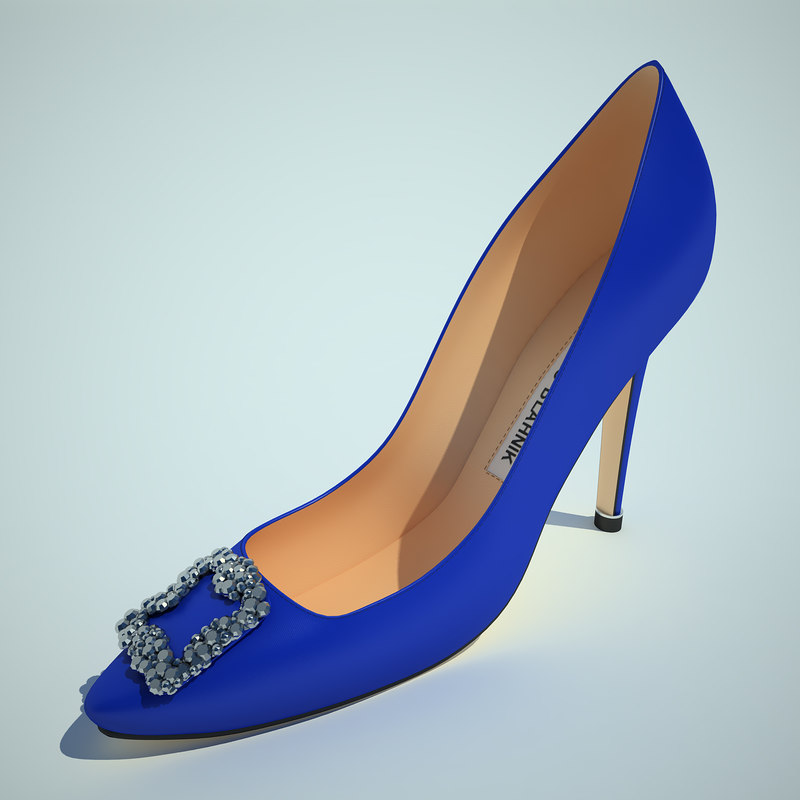 3ds max manolo blahnik blue