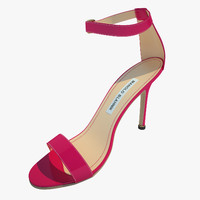 manolo blahnik chaos 3d model