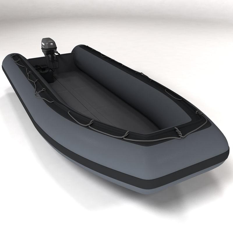 3d rigid hull inflatable boat model
