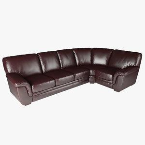 right hand facing corner sofa 3d model