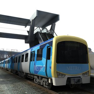 3d model metro train