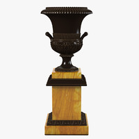 French Empire Bronze Urn