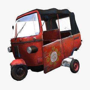 3d bajaj jakarta rickshaws