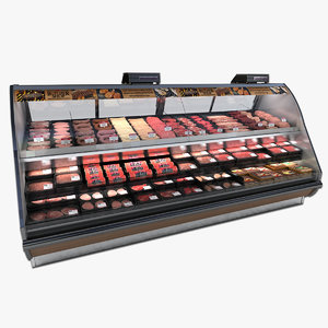 butcher case 3d model