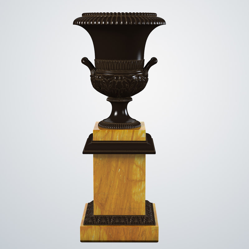3d french empire bronze urn model