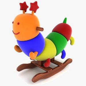 obj caterpillar rocking chair