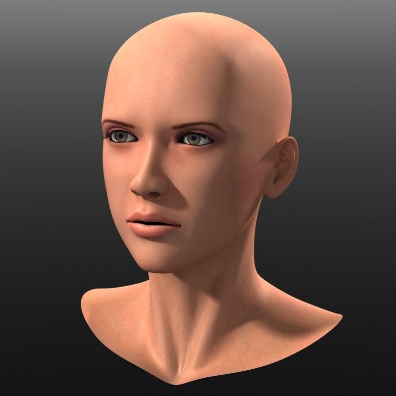 3d eurasian head
