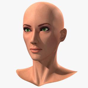 head european woman 3d lwo