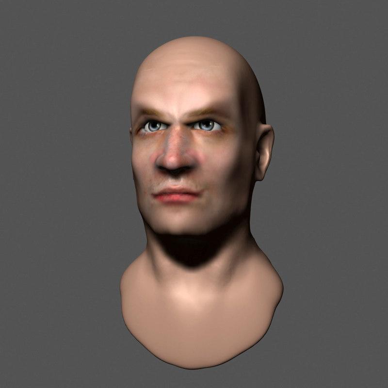 3dsmax man head