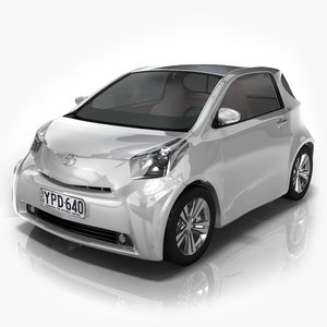 toyota iq mini car 3d lwo