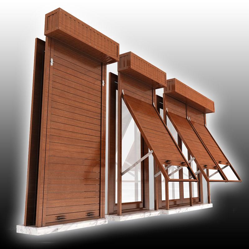 window shutter 3d 3ds