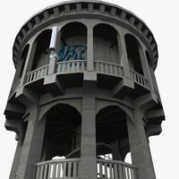bastia hill water tower 3d model