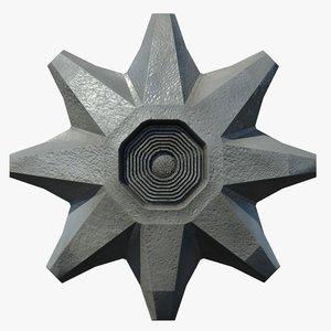 ufo structure 3d model