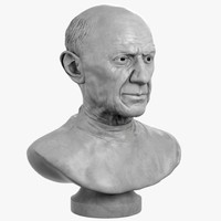 decorative bust picasso 3d max