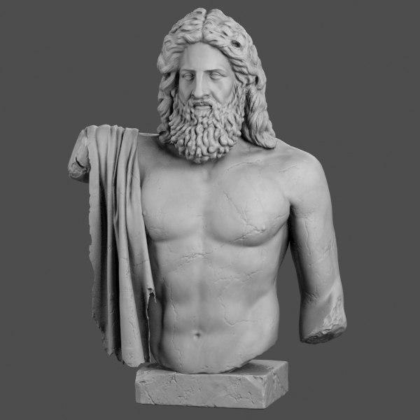 decorative sculpture zeus max