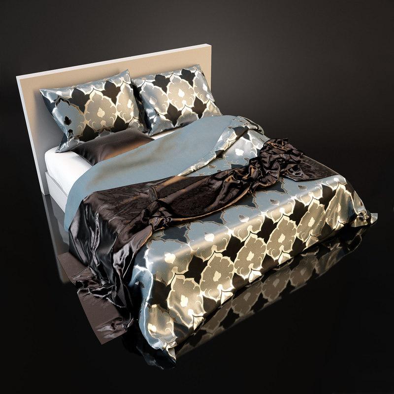 3d fbx bedcloth bed