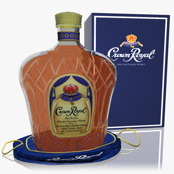 crown royal whisky set 3d model