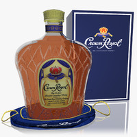 crown royal whisky set 3d model