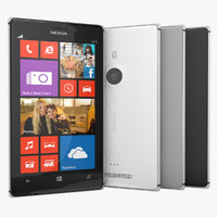 Nokia Lumia 925 Flagship Black White and Gray