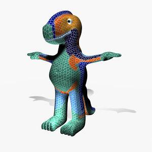 - cartoon character dragon 3d model
