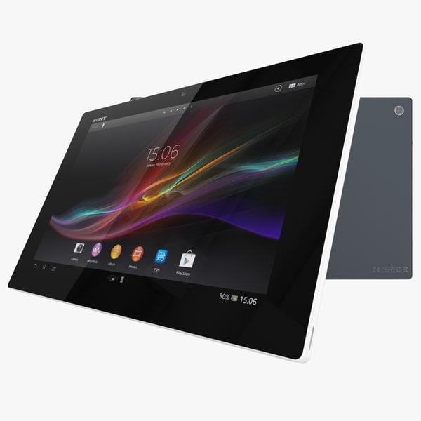 sony xperia tablet z 3d model