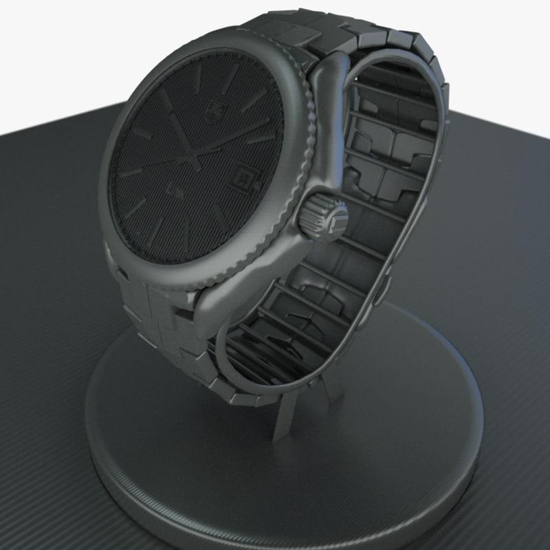 3d model of luxury watch